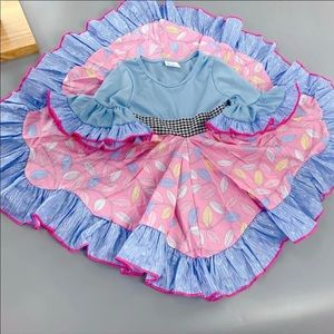 Other - NWT Baby Blue Oink Feather Twirl Dress 👗